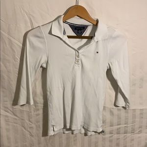 Tommy Hilfiger girls long sleeve button down white